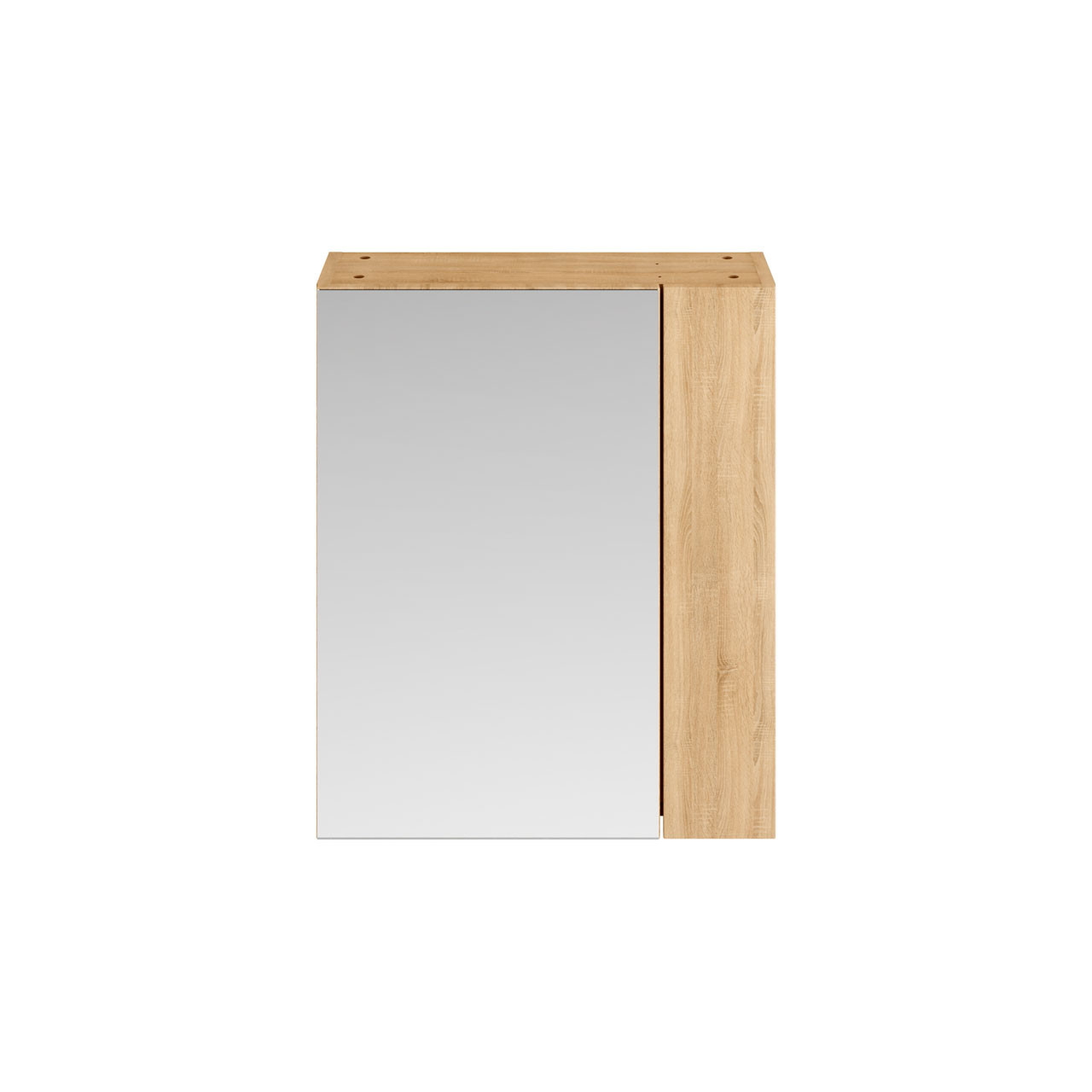 Premier Athena Natural Oak 600mm 2 Door with 75/25 Split Mirror Unit - MOC624