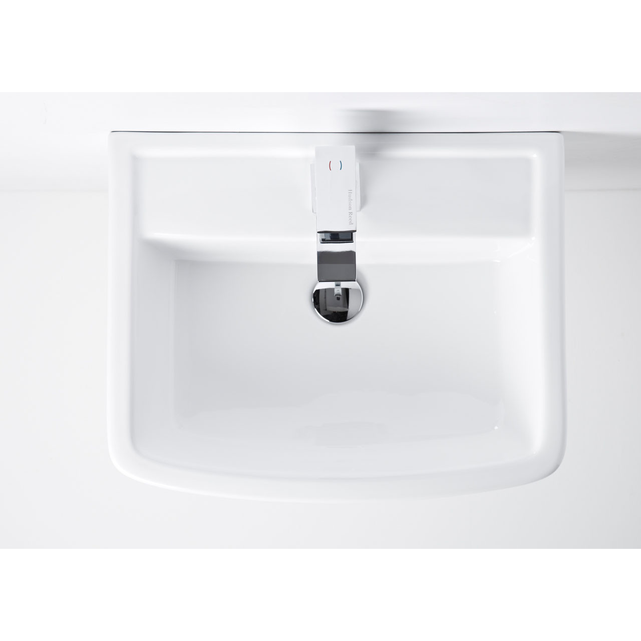 Nuie Bliss 520mm Basin with 1 Tap Hole and Semi Pedestal - CBL011
