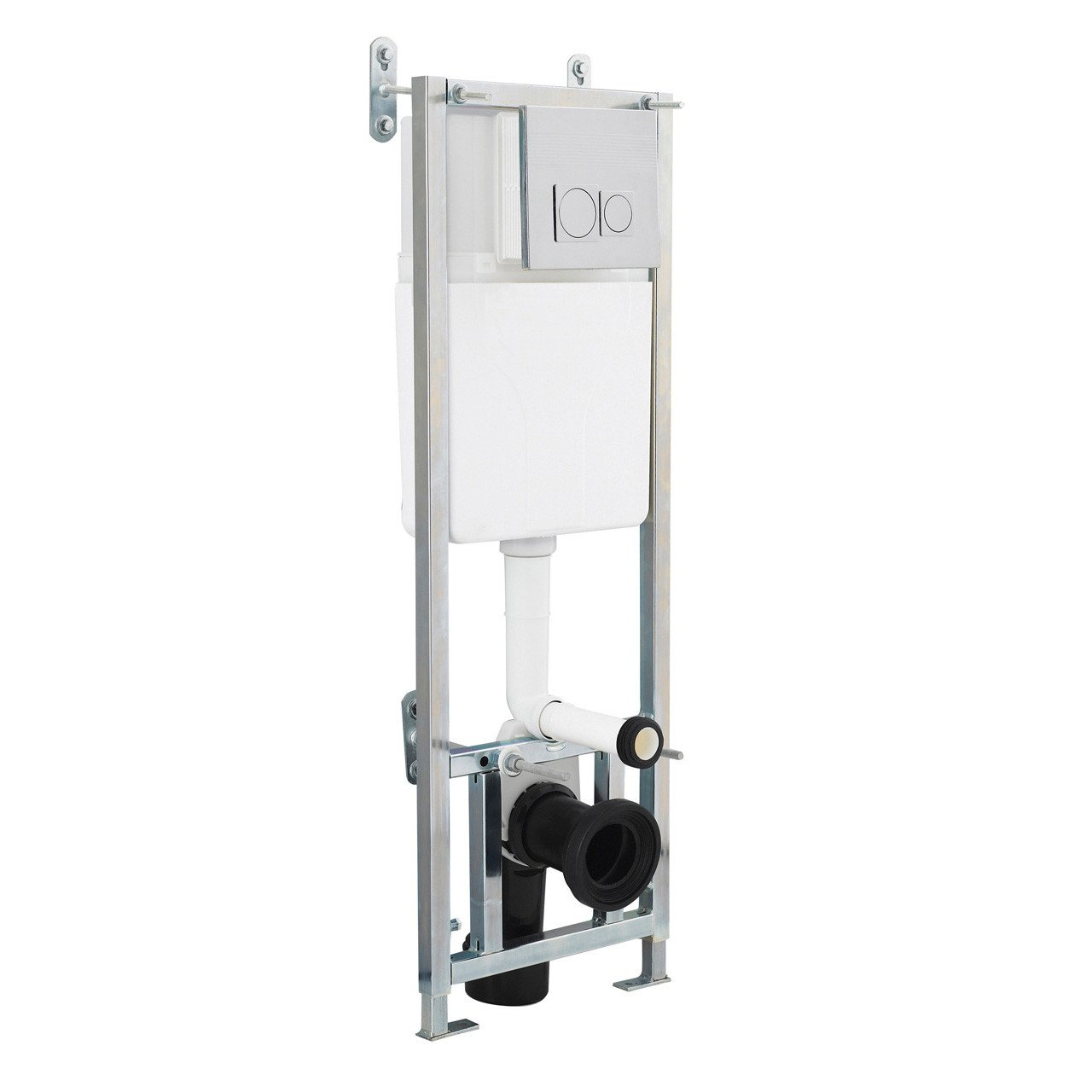 Premier C Cistern Wall Frame Complete with Chrome P Button - XTY005