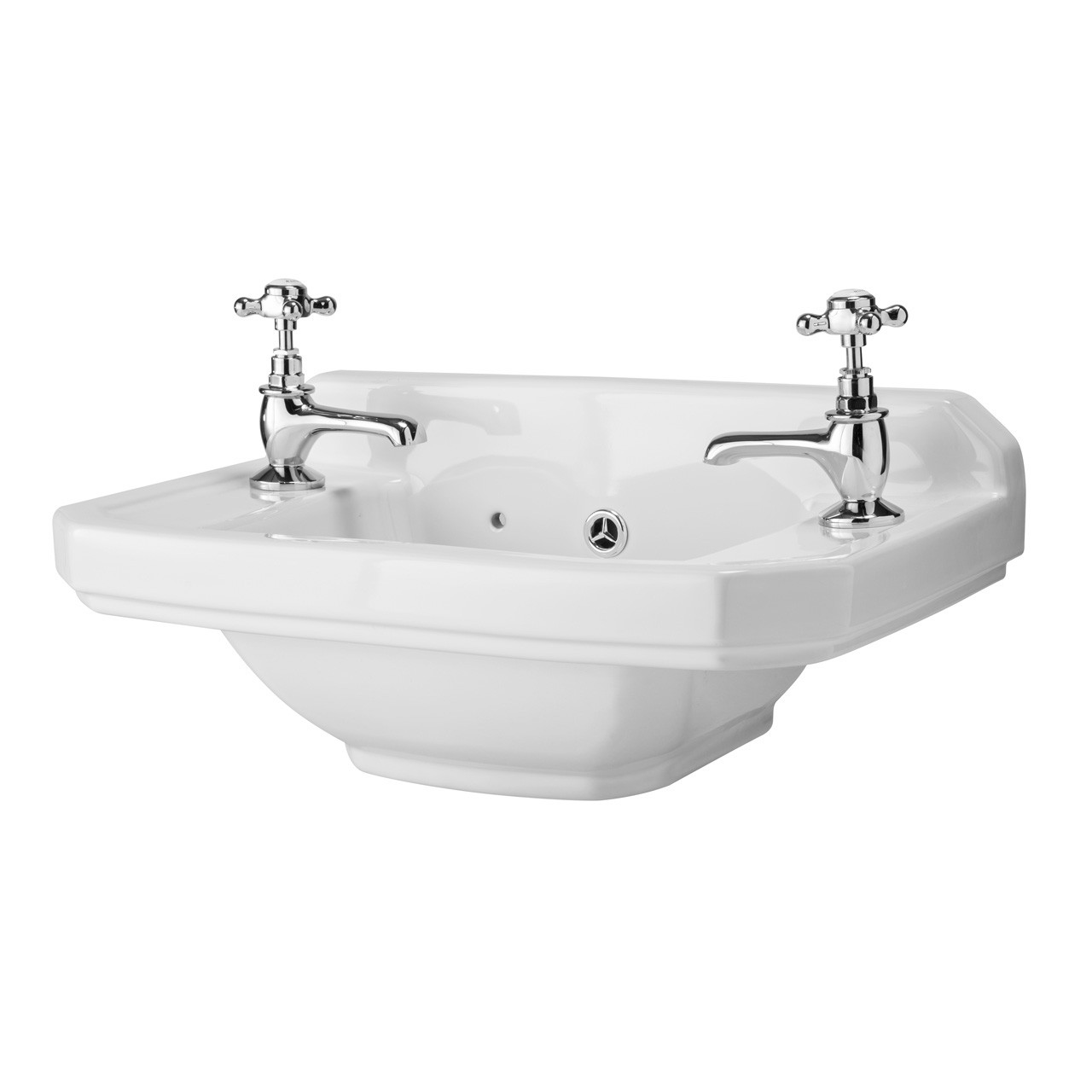 Premier Carlton 515mm Cloakroom Basin with 2 Tap Holes - NCS829