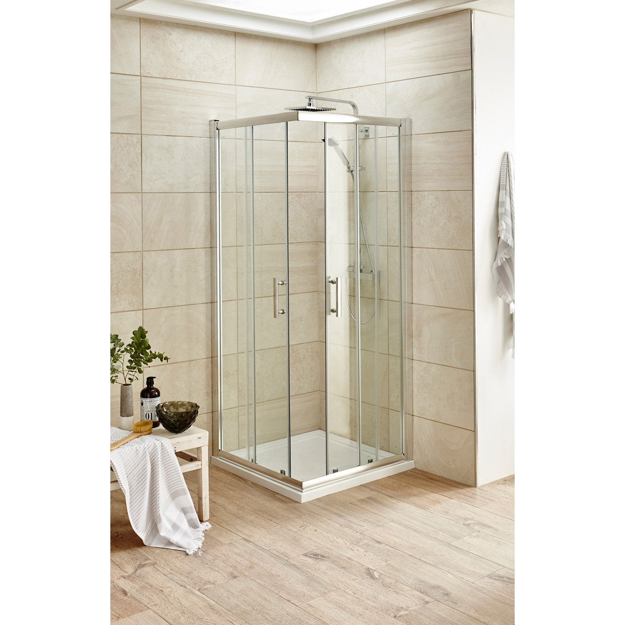 Premier Chrome Pacific 900mm Corner Entry 6mm Thick- AFCE9090