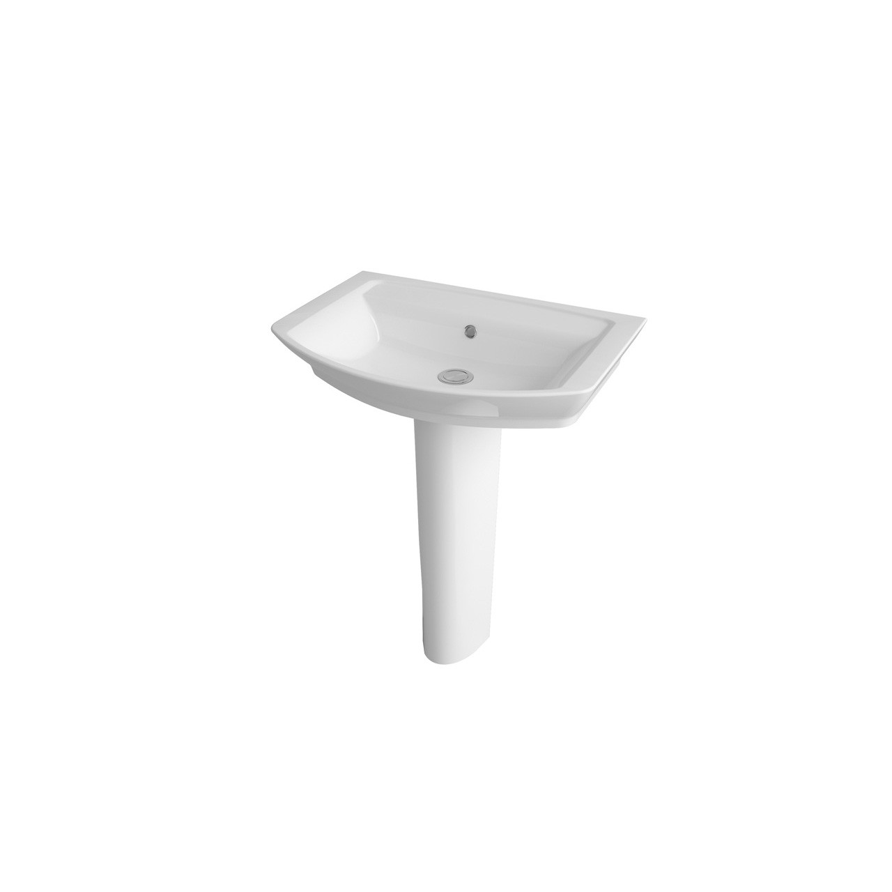 Hudson Reed Maya 650mm Basin with 1 Tap Hole and Full Pedestal - CCL003