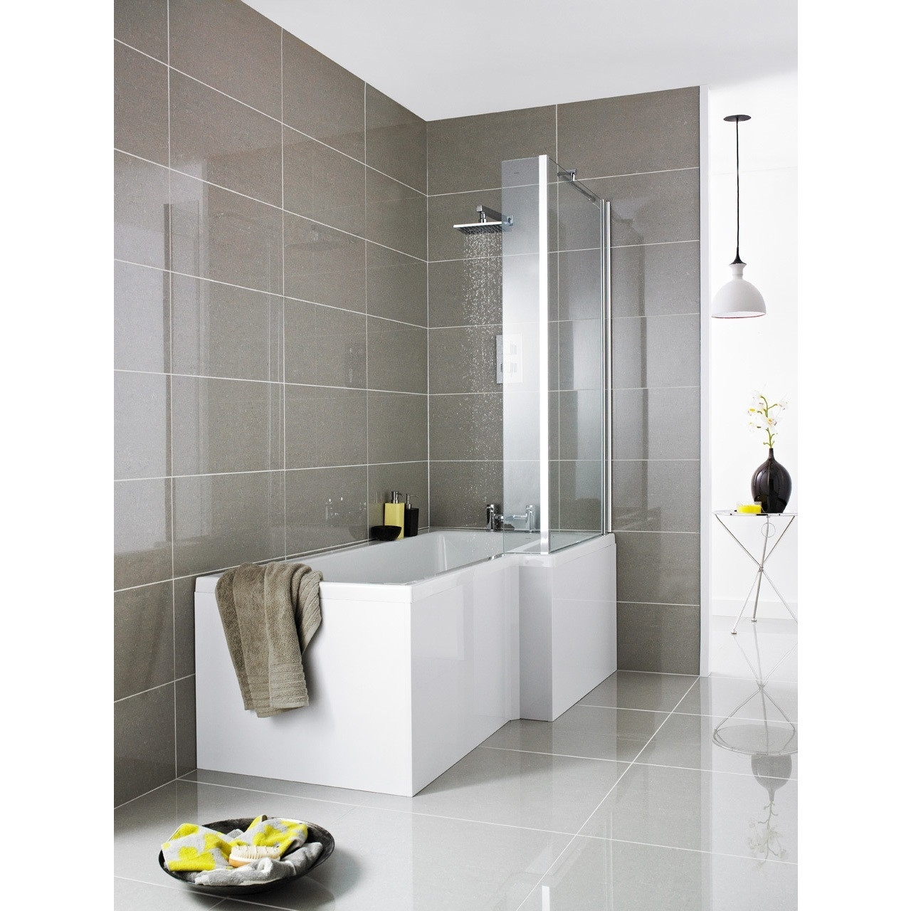 Premier Cove Square Right Hand Shower Bath 1700mm x 850mm x 700mm - SSB108
