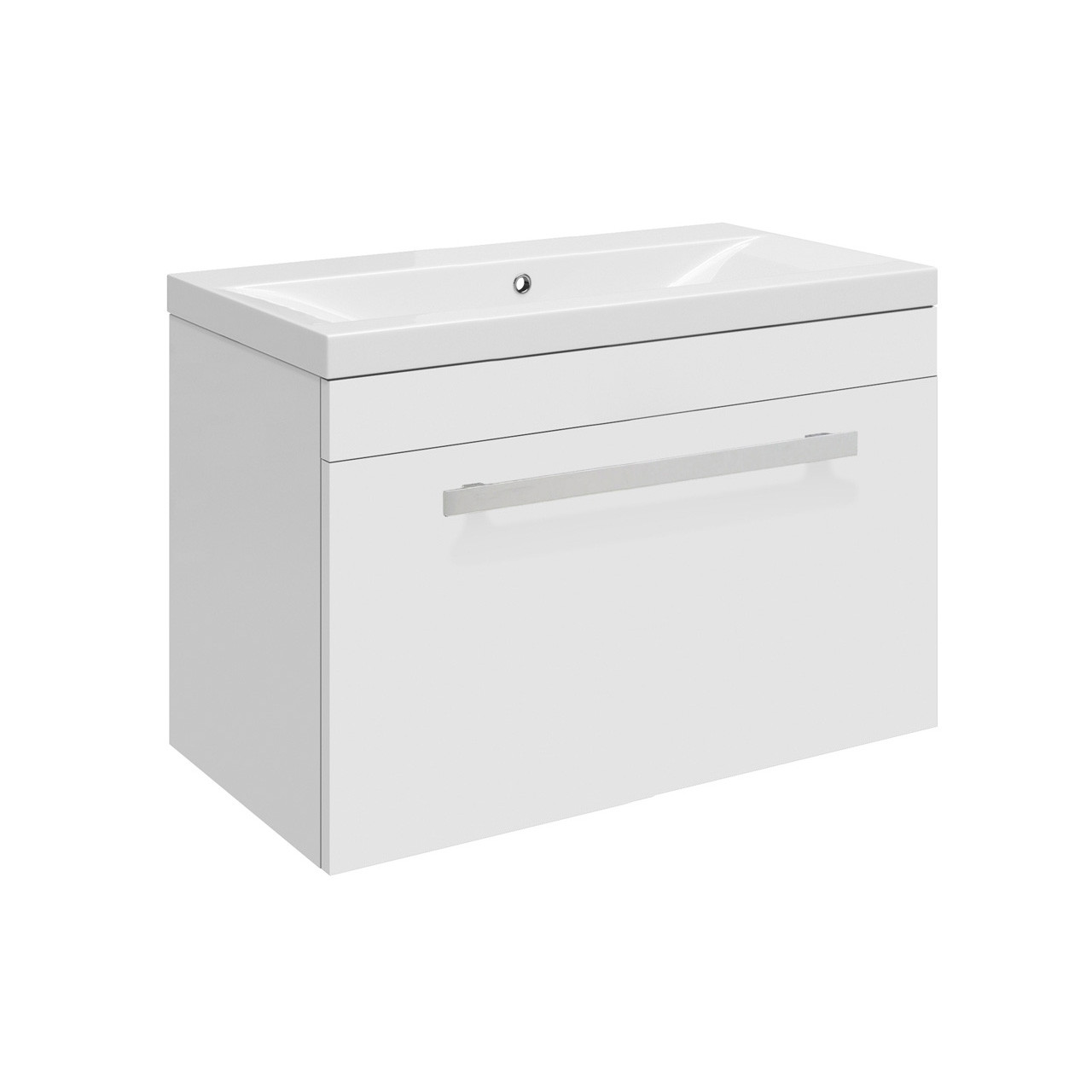 Premier design gloss white wall hung 500mm cabinet 40mm for Bathroom cabinets 500mm wide