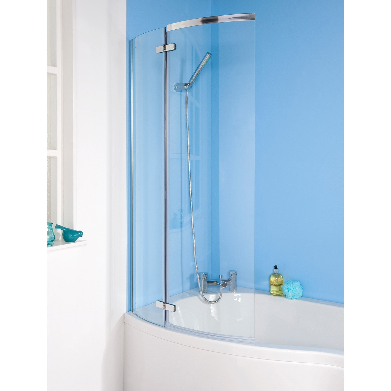 Premier Ella 'P' Curved Bath Screen - ERCS0