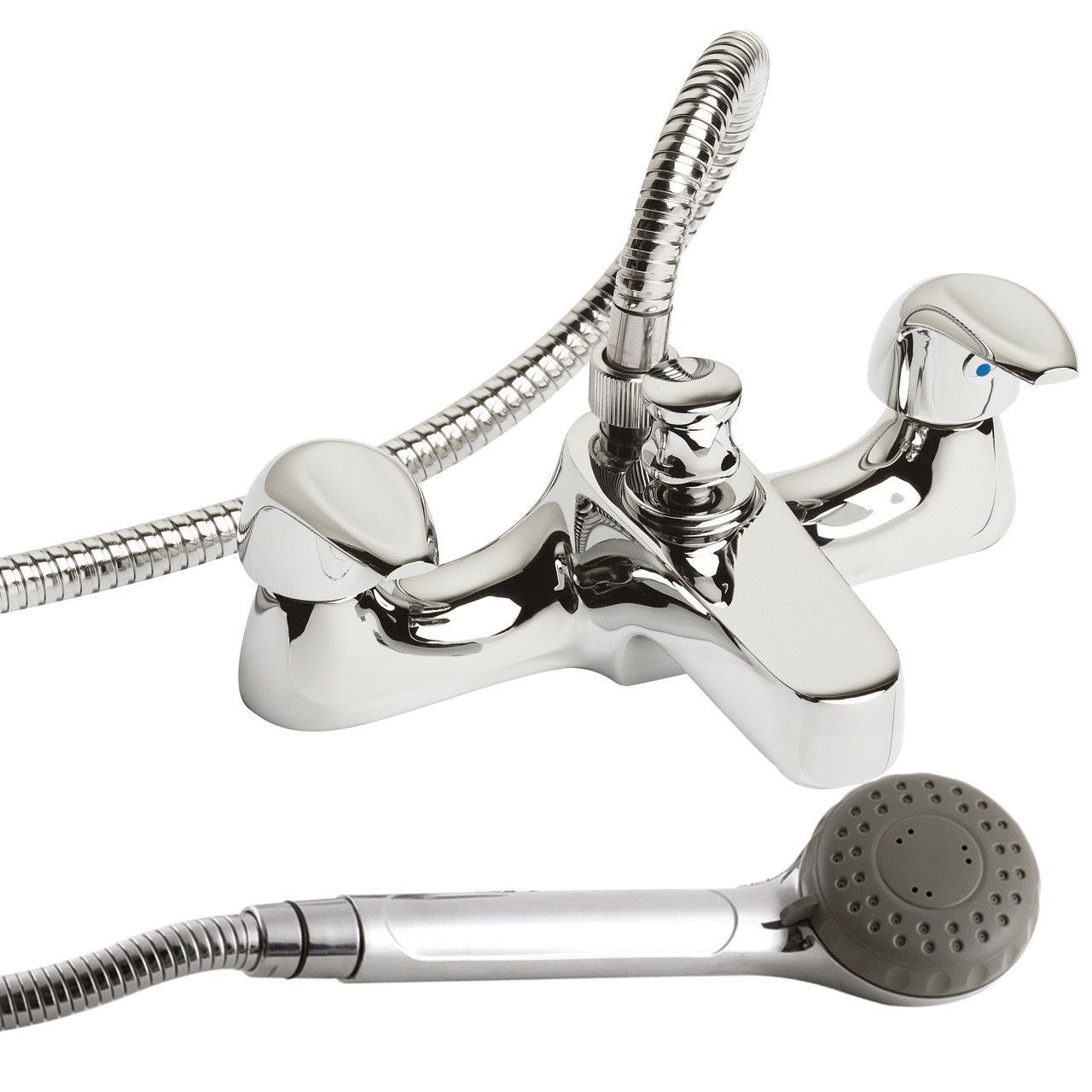 Premier Eon Deck Mounted Bath and Shower Mixer Shower Kit and Brack ...