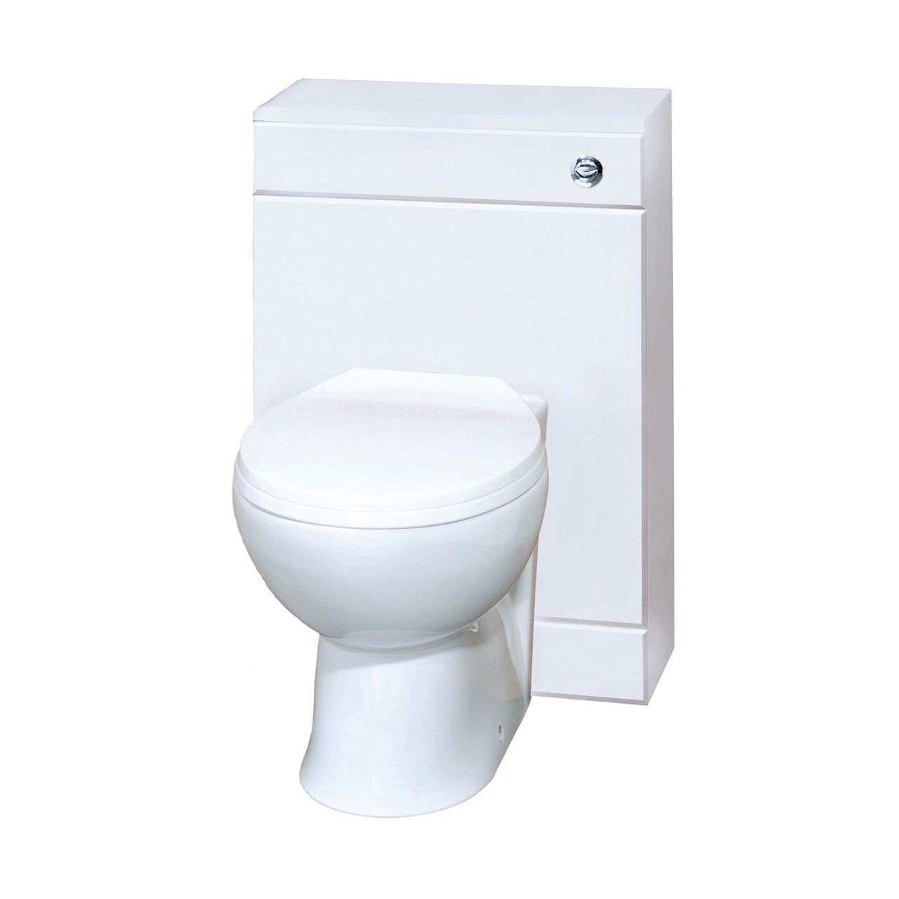 Premier Gloss White 500mm WC Unit Inc Concealed Cistern - NVS142