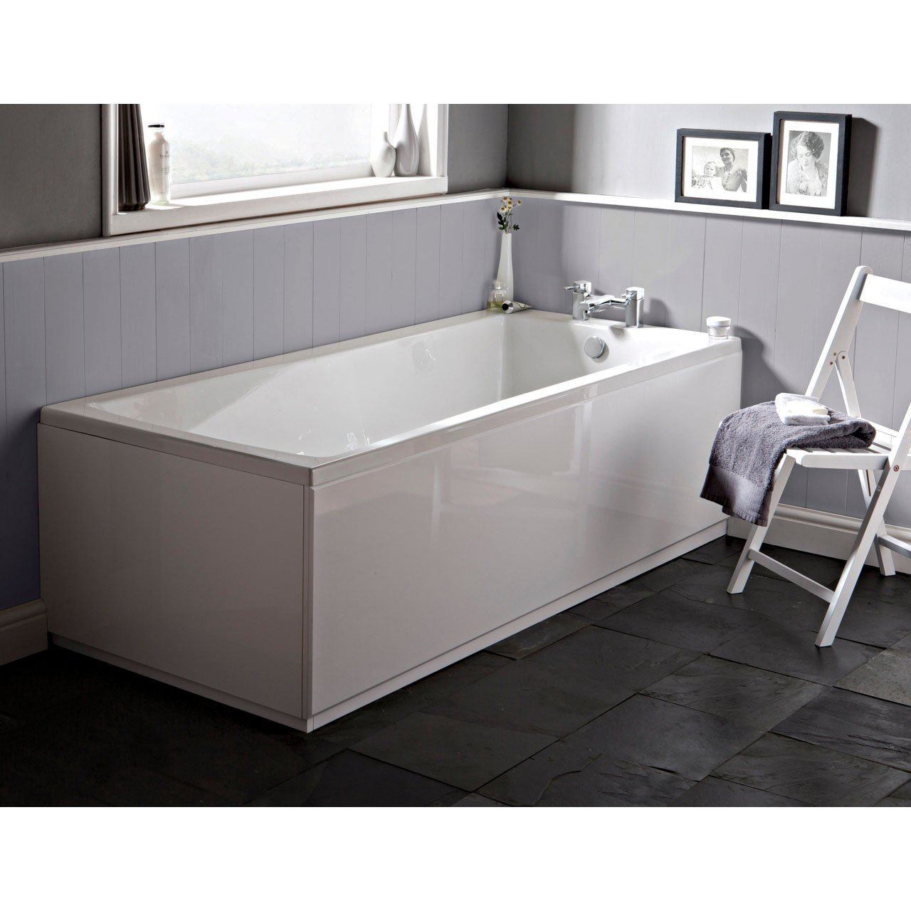 Nuie Linton 1400mm x 700mm Square Single Ended Bath - NBA404