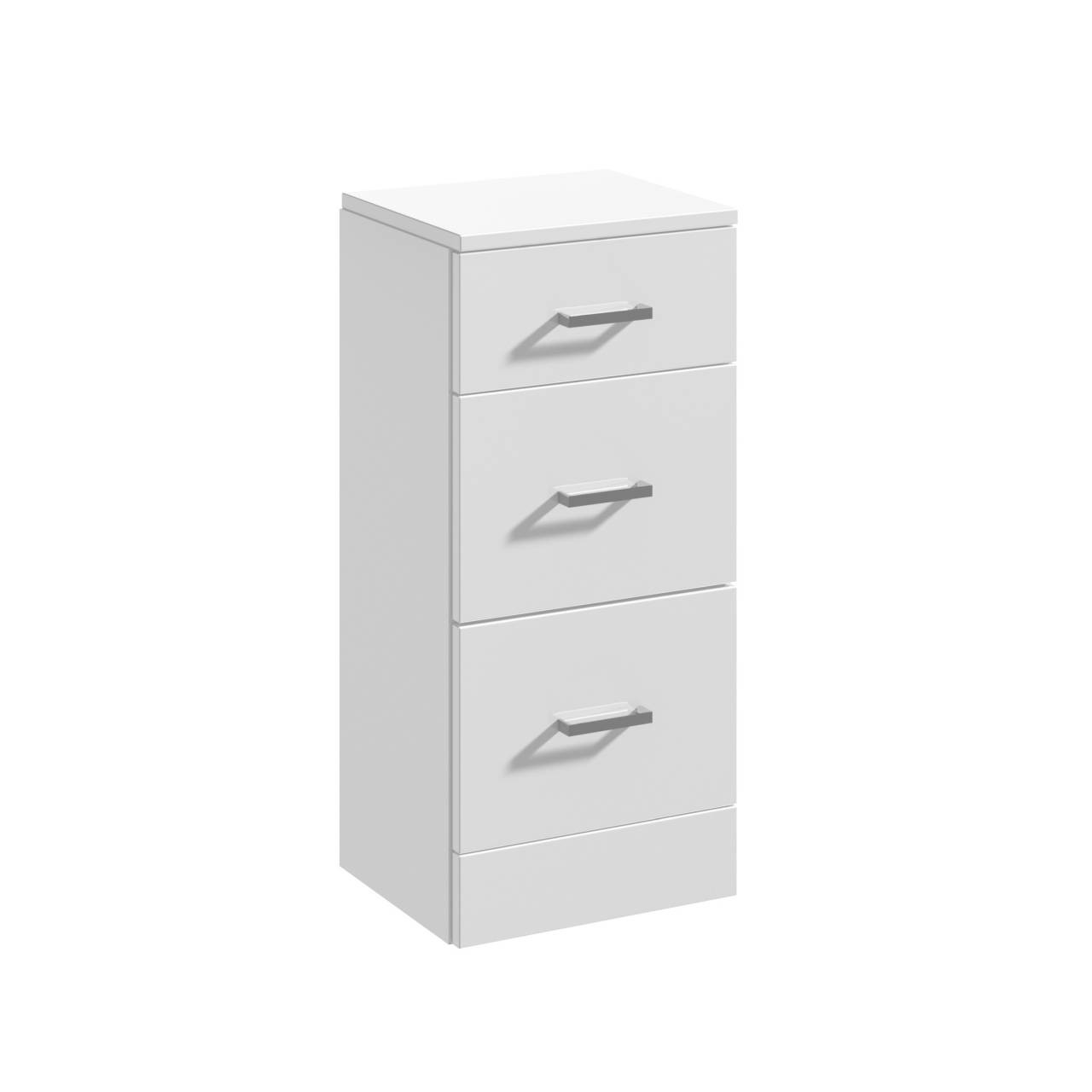 Premier Mayford Gloss White 350mm x 330mm 3 Drawer Storage Unit - PRC136
