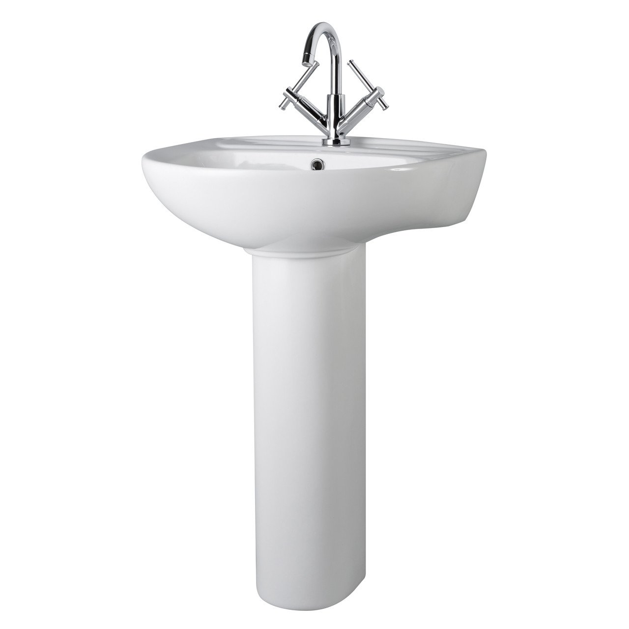 Premier Melbourne 550mm Basin with 1 Tap Hole and Full Pedestal - CML002