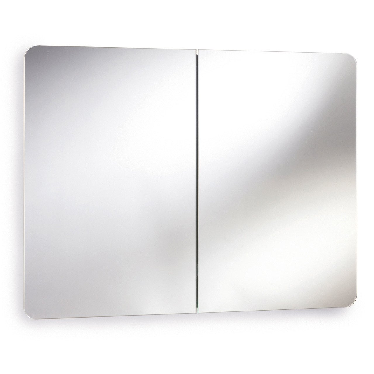 Premier Mimic Stainless Steel Mirrored Cabinet with Hinged Doors - LQ383