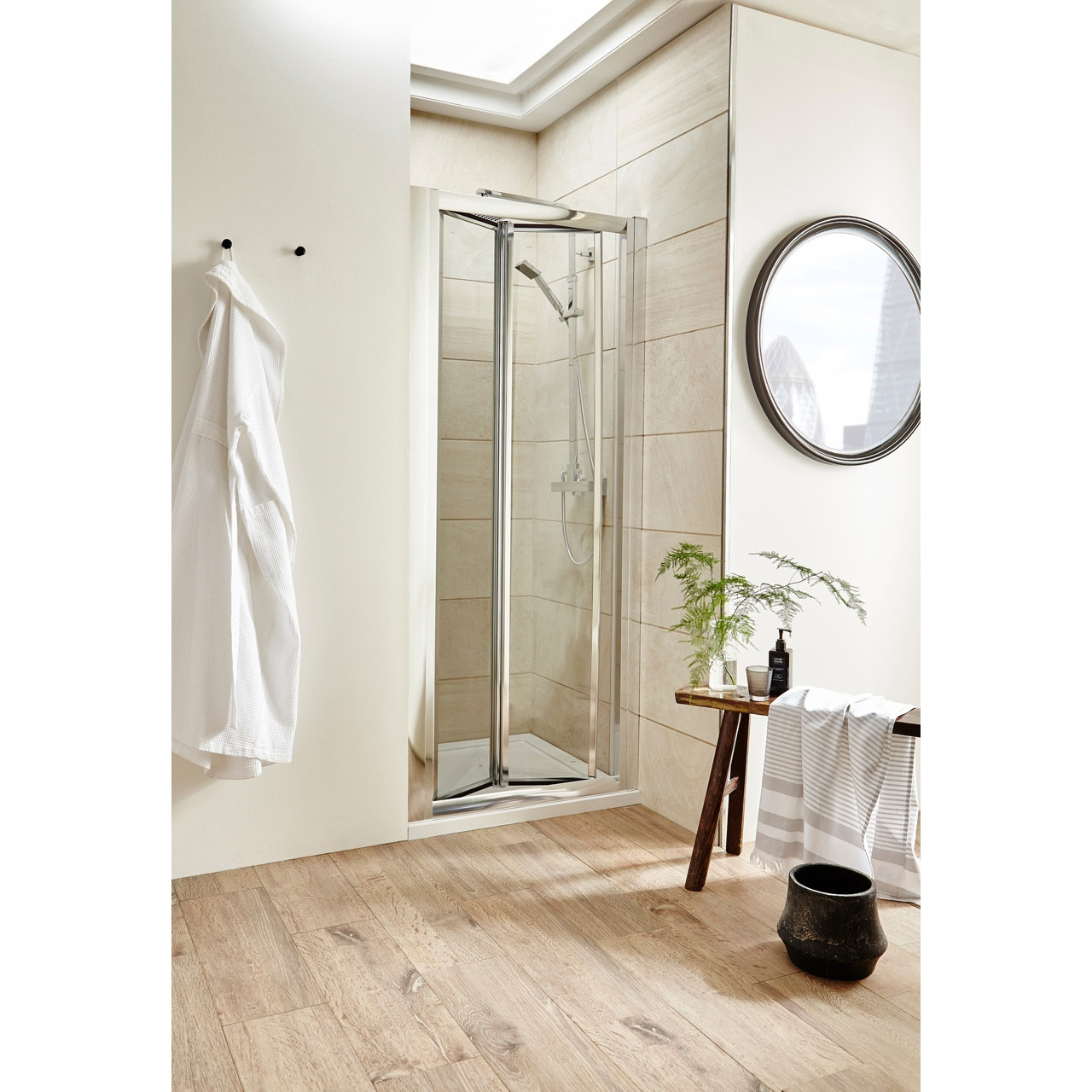 Premier Pacific Bi-Fold Shower Door 1000mm - AQBD10