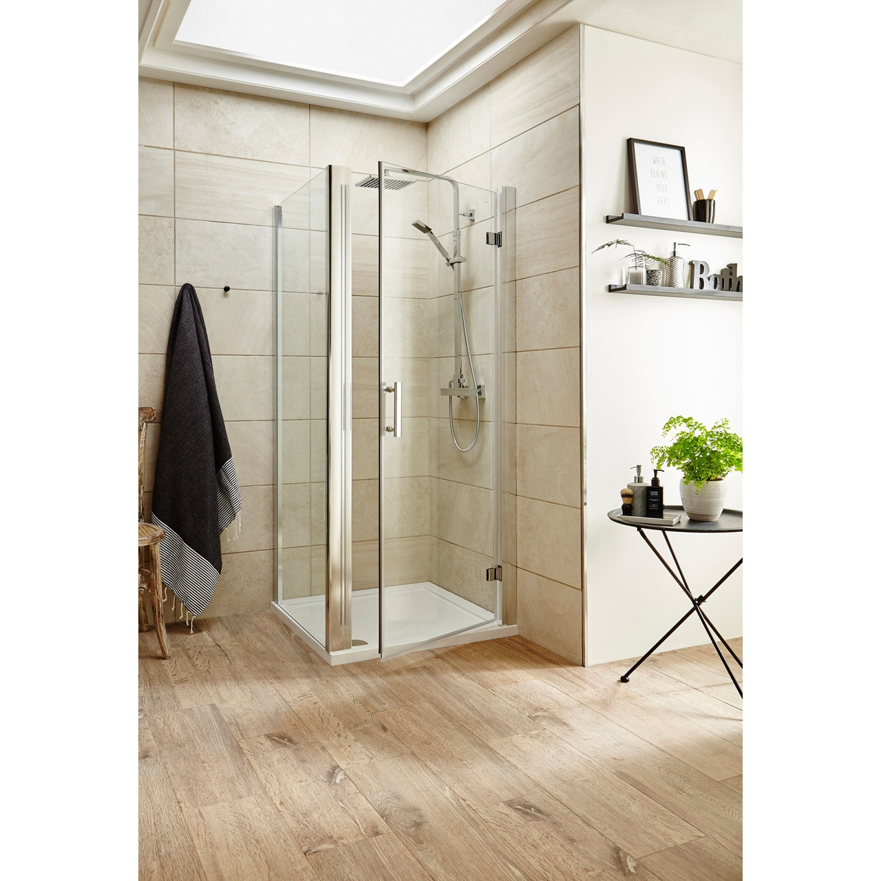 Premier Pacific Hinged Shower Door 760mm - AQHD76