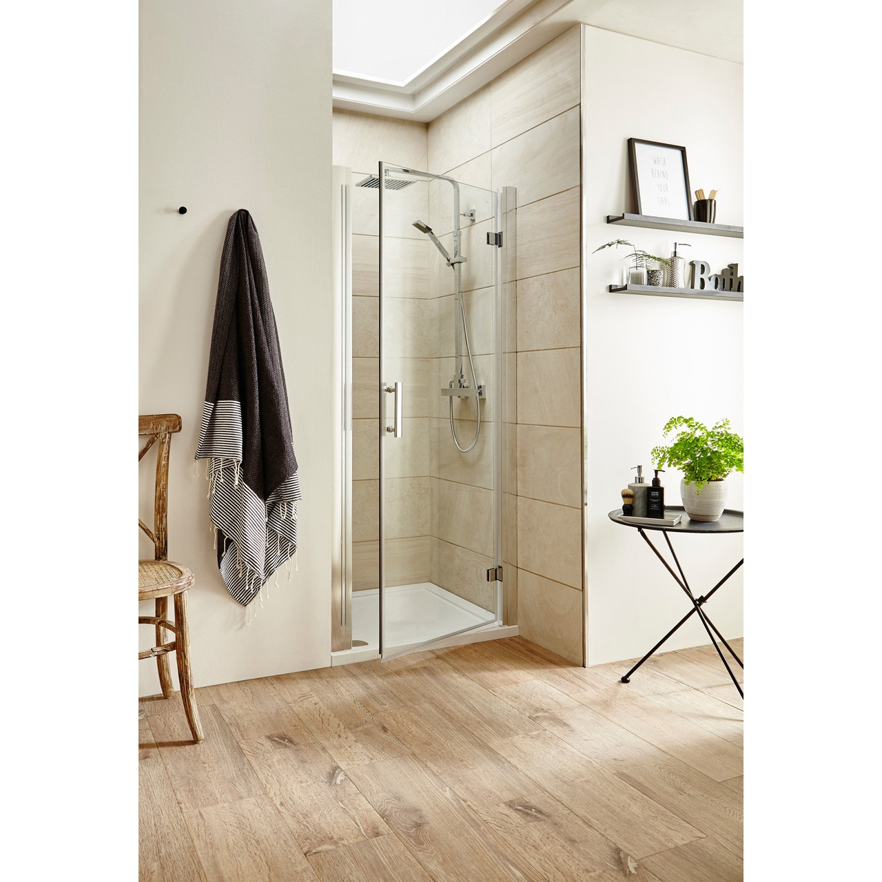 Premier Pacific Hinged Shower Door 900mm - AQHD90