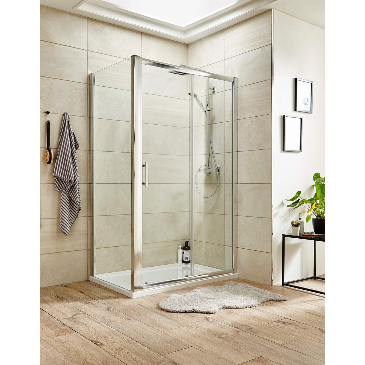 Premier Pacific Sliding Shower Door 1200mm - AQSL12