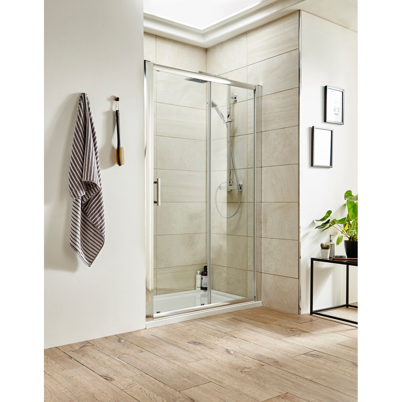 Premier Pacific Sliding Shower Door 1400mm - AQSL14
