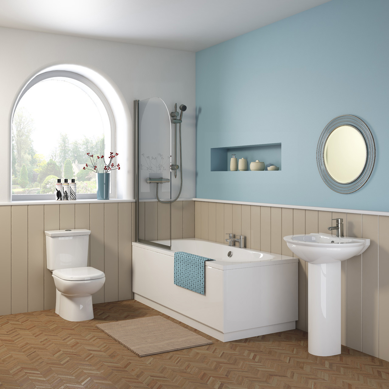 Nuie Otley 1800mm x 800mm Round Double Ended Bath - NBA514