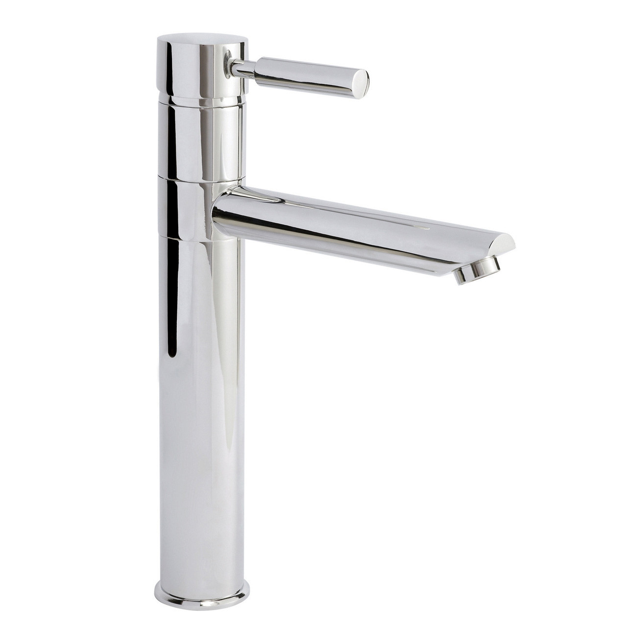 Nuie Series 2 Chrome High Rise Mixer Basin Tap with Swivel Spout - FJ319