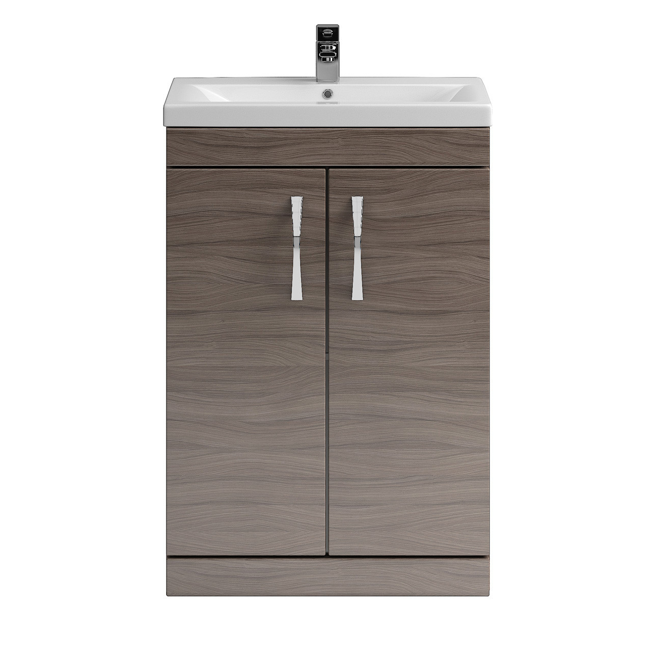 Premier shipton driftwood floor standing 600mm cabinet for Bathroom cabinets 500mm wide