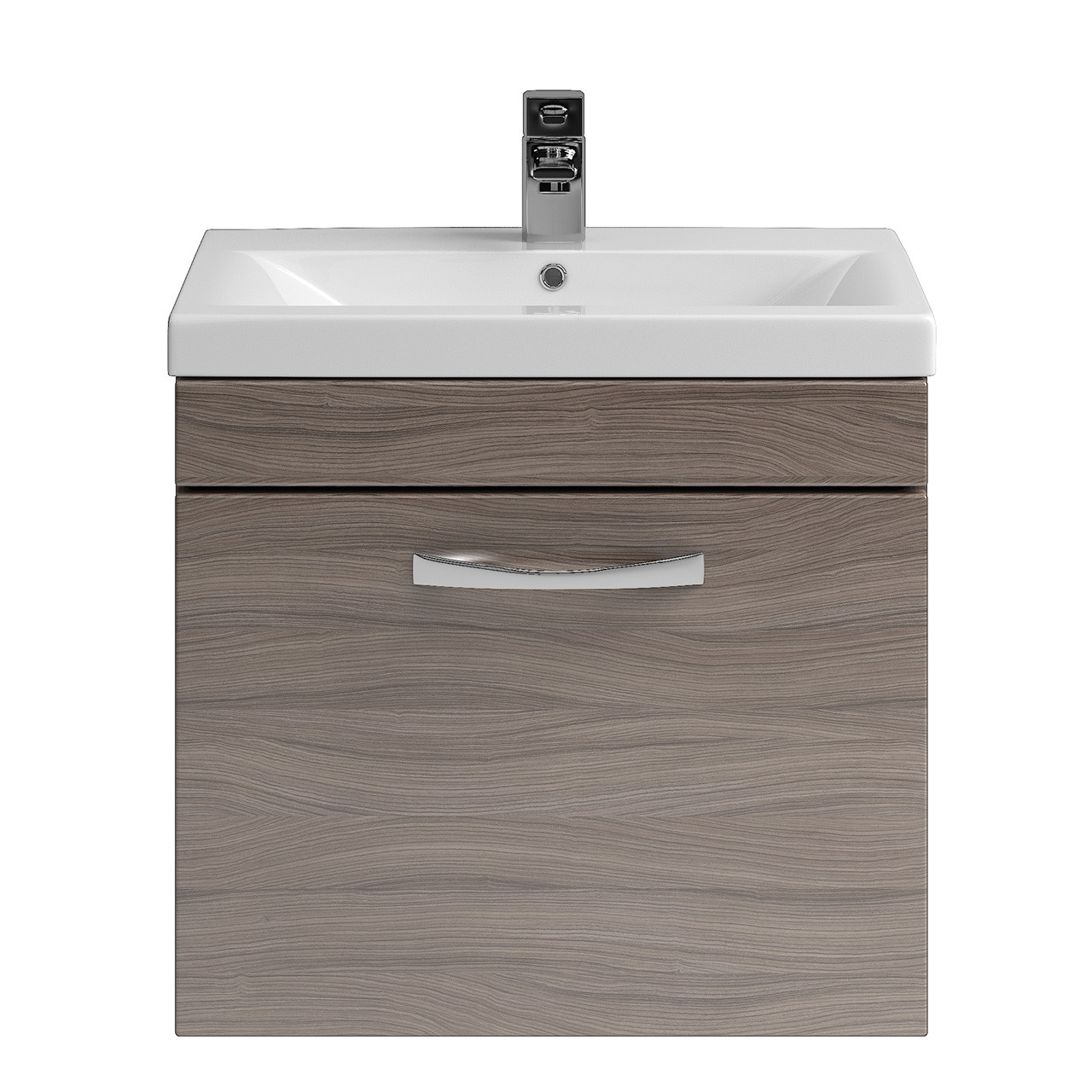 Premier shipton driftwood wall hung 500mm cabinet basin for Bathroom cabinets 500mm wide