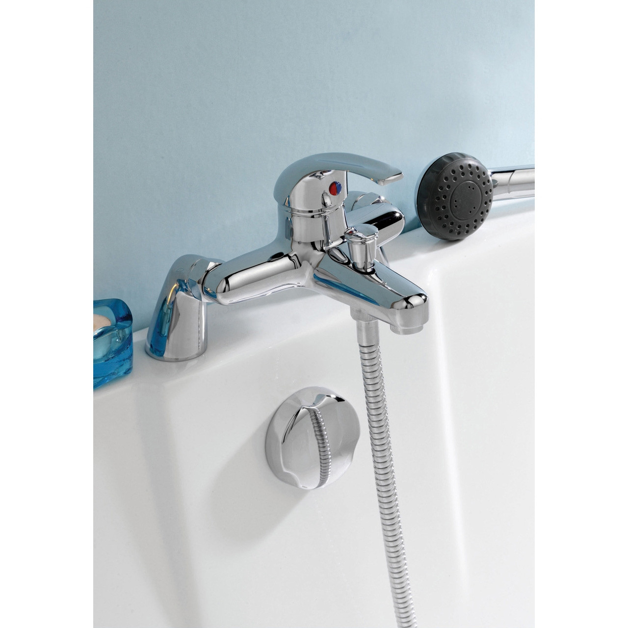 Nuie Eon Deck Mounted Bath and Shower Mixer Tap - DTY304