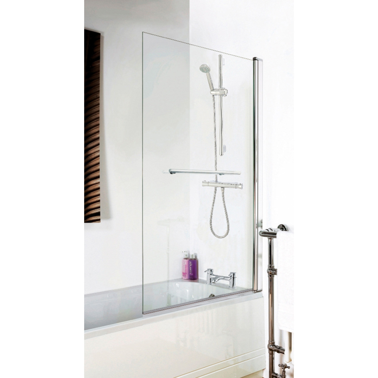 Premier Square Bath Screen with Rail - NSSQR