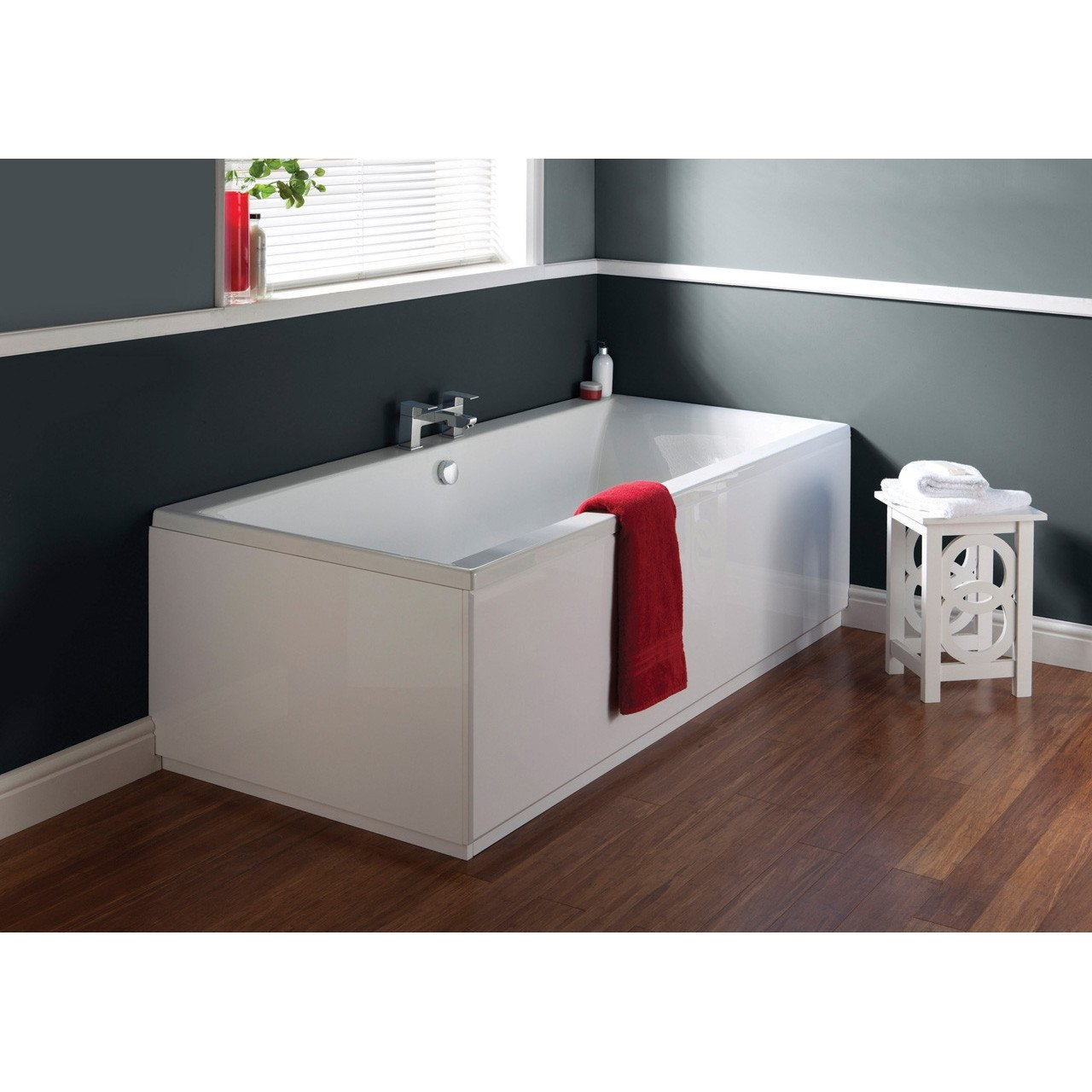 Nuie Asselby 1700mm x 750mm Square Double Ended Bath - NBA210