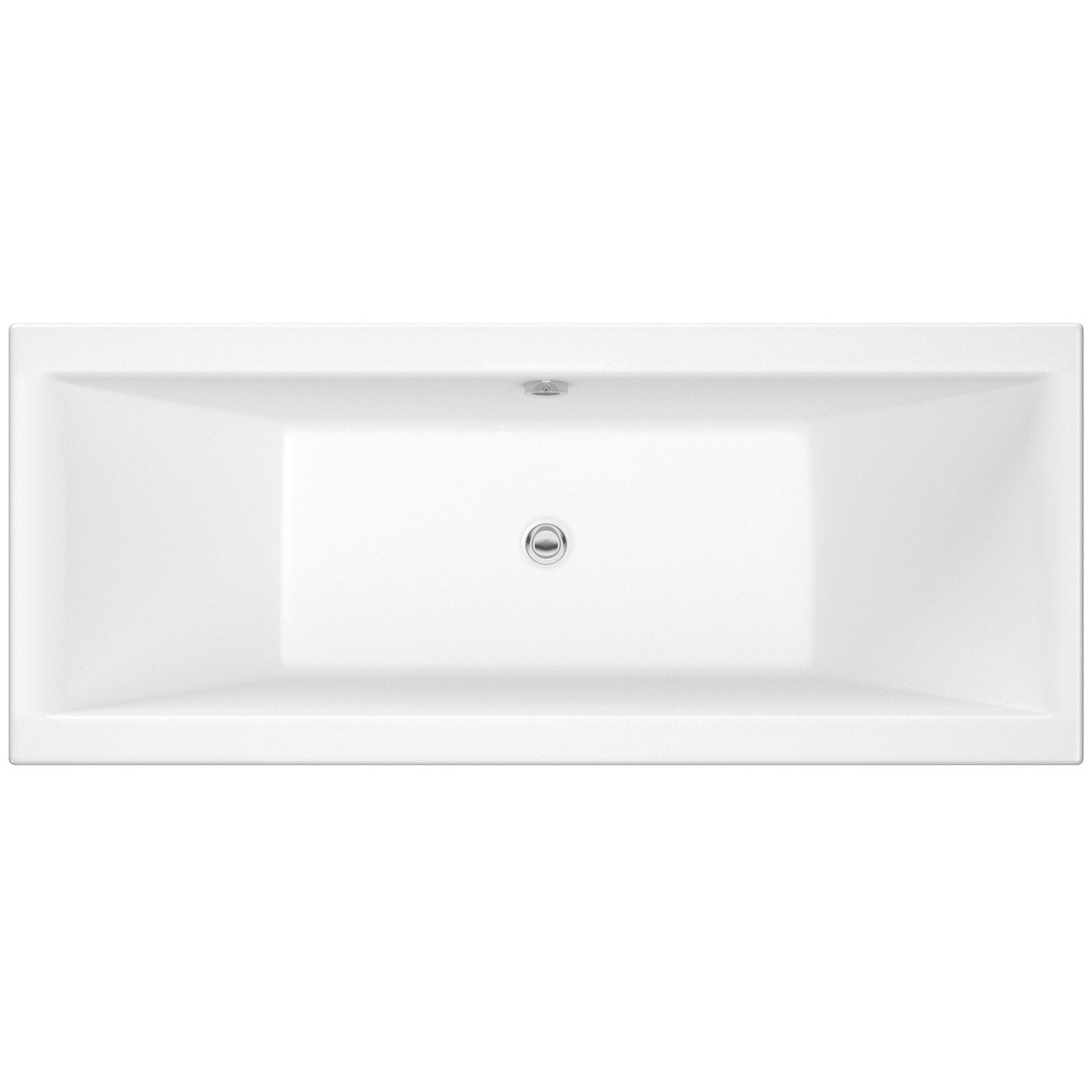 Nuie Asselby 1800mm x 800mm Square Double Ended Bath - NBA214
