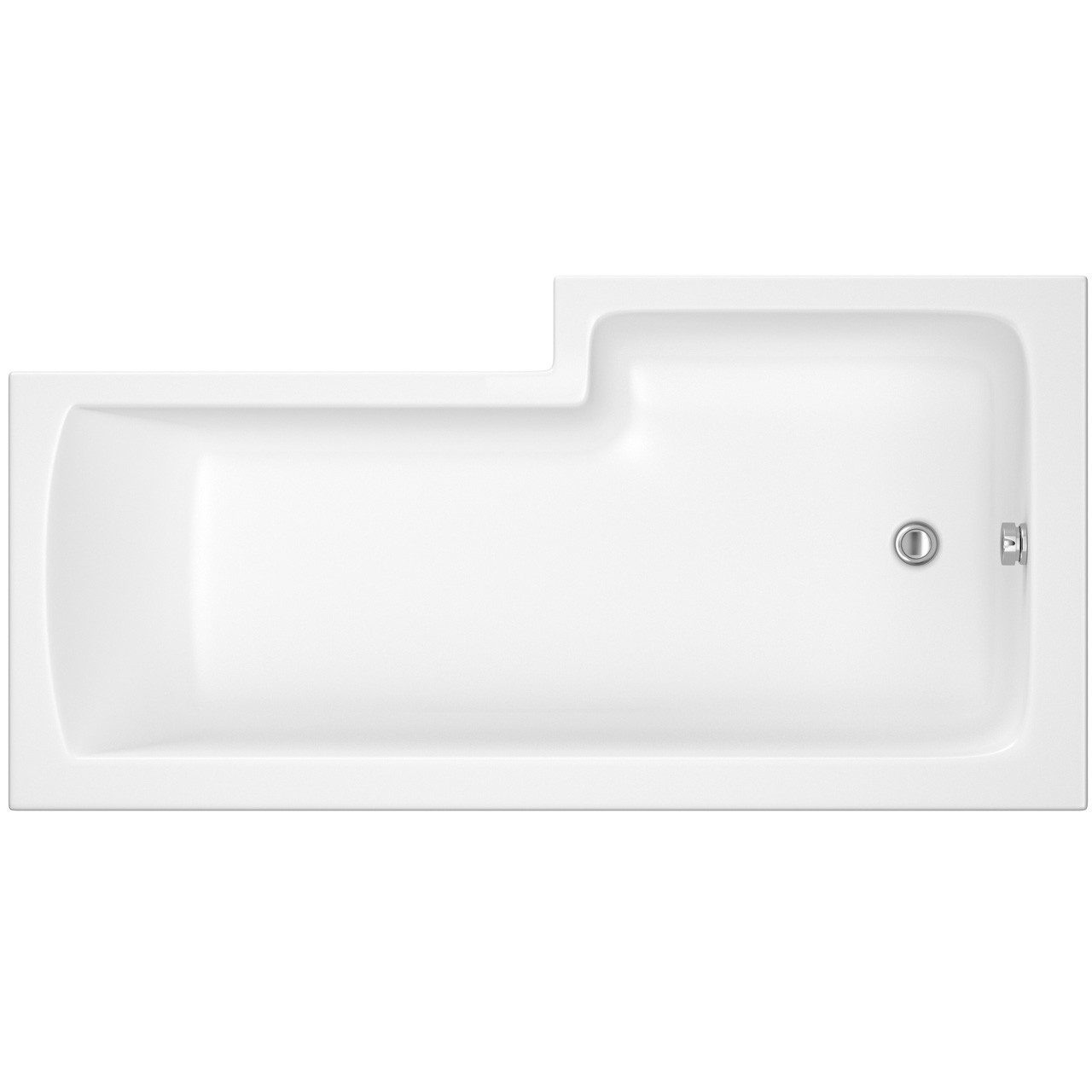 Premier Square Left Hand Shower Bath 1500mm x 850mm - BMBS1585L