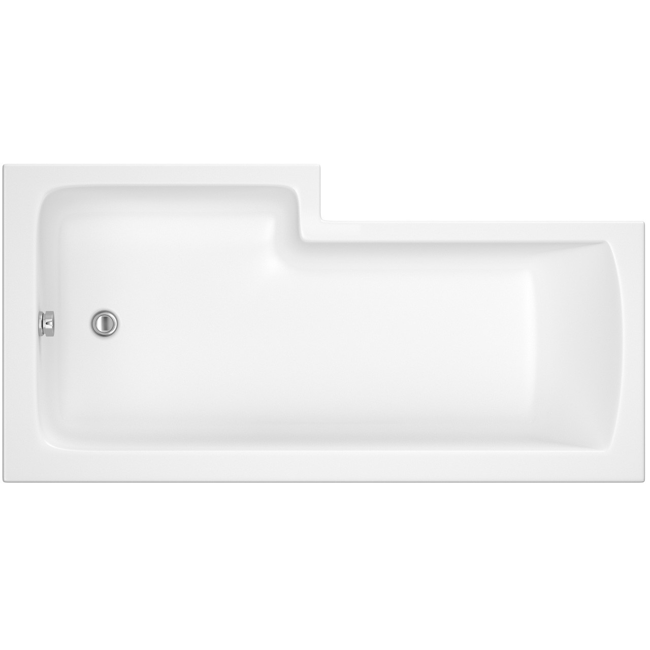 Premier Square Right Hand Shower Bath 1500mm x 850mm - BMBS1585R