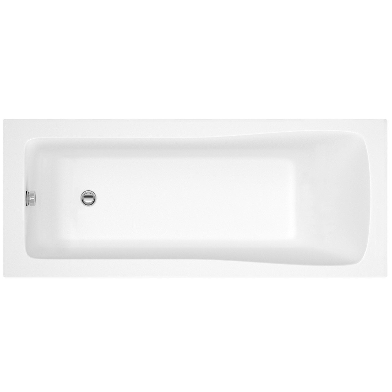 Premier Square Single Ended Bath 1600mm x 700mm - NBA407