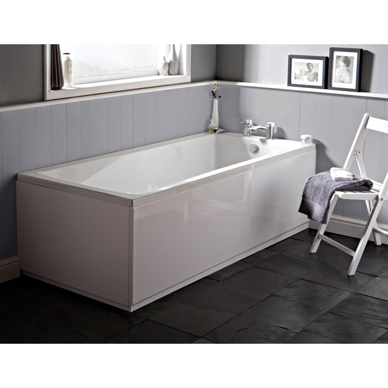 Premier Square Single Ended Bath 1700mm x 750mm - NBA410