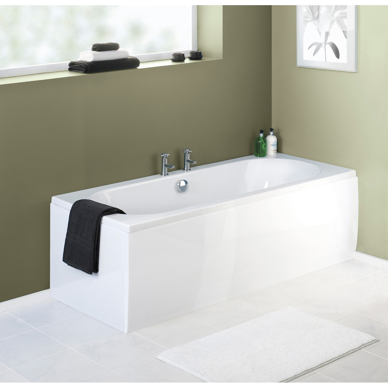Premier Straight Front Bath Panel 1800mm x 510mm x 2mm - PAN141