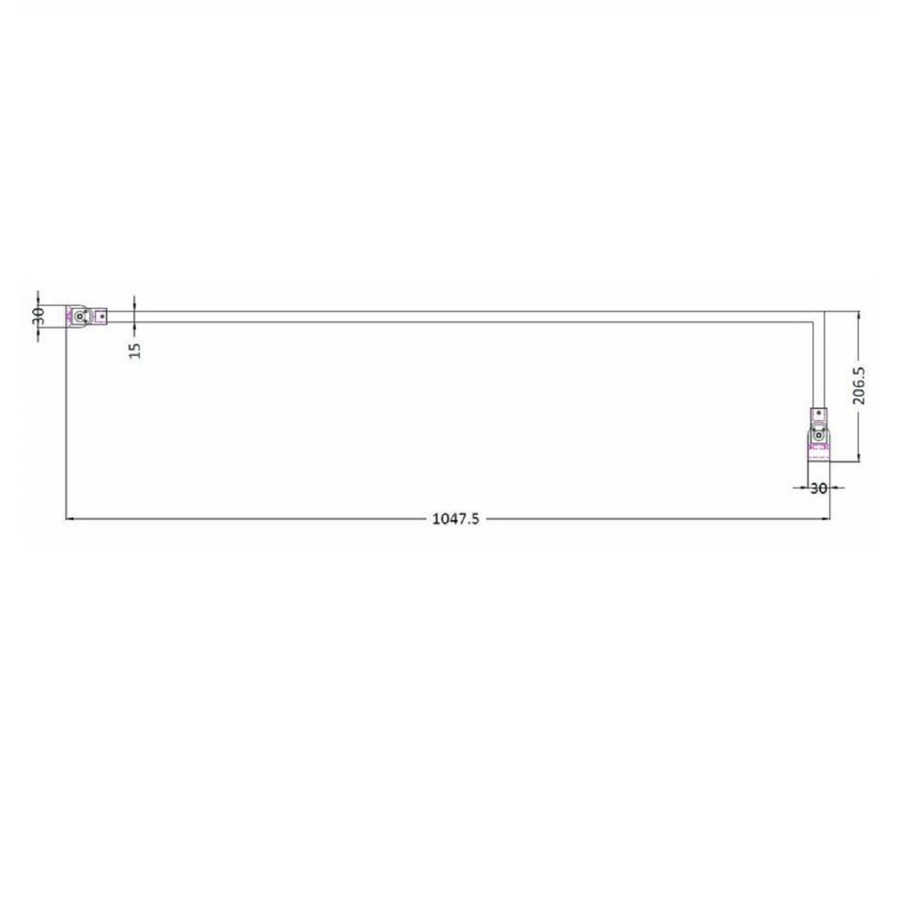 Premier Wetroom Screen Support Arm - ARM22