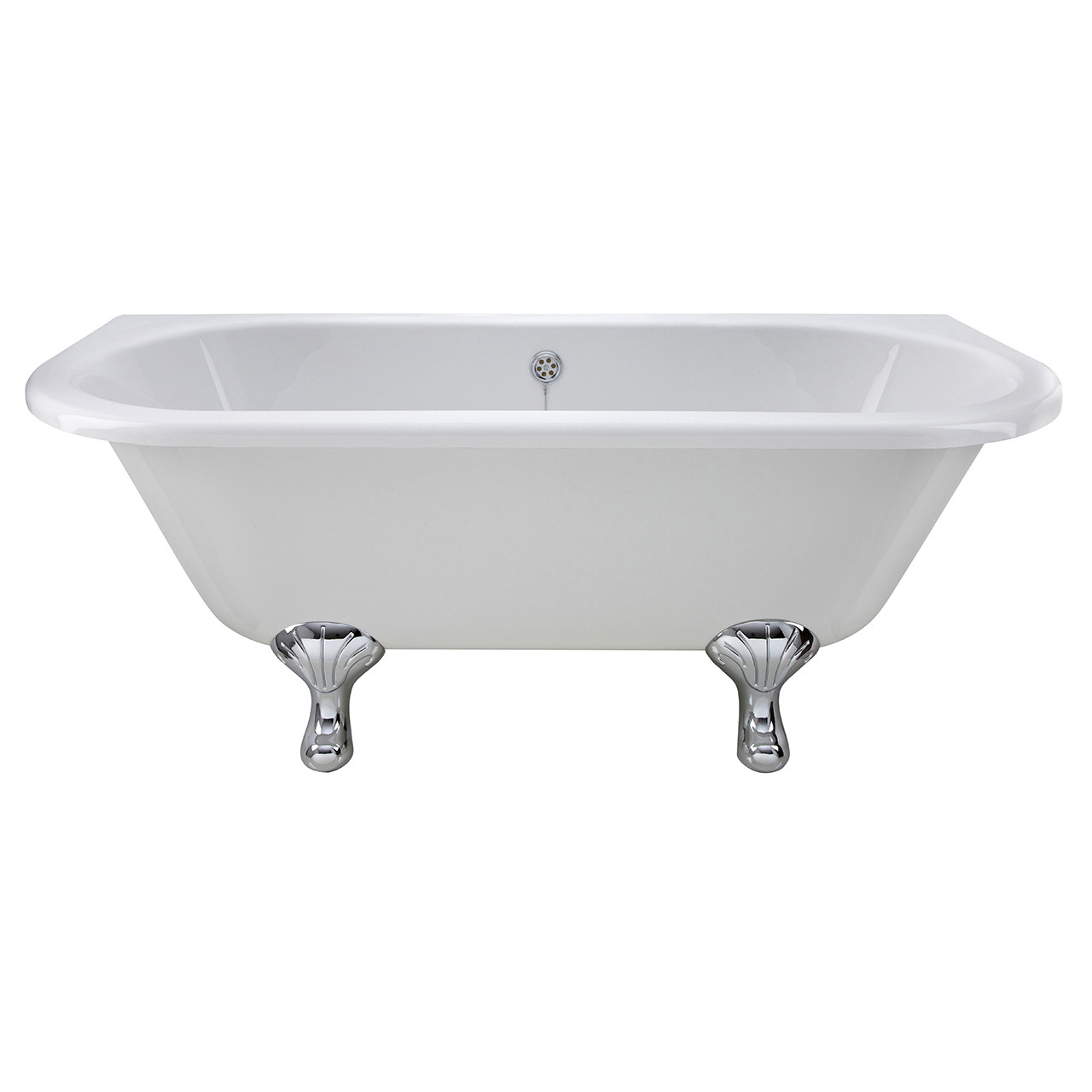 Premier White Back to Wall 1700 Freestanding Bath with Corbel Legs - RE1701T