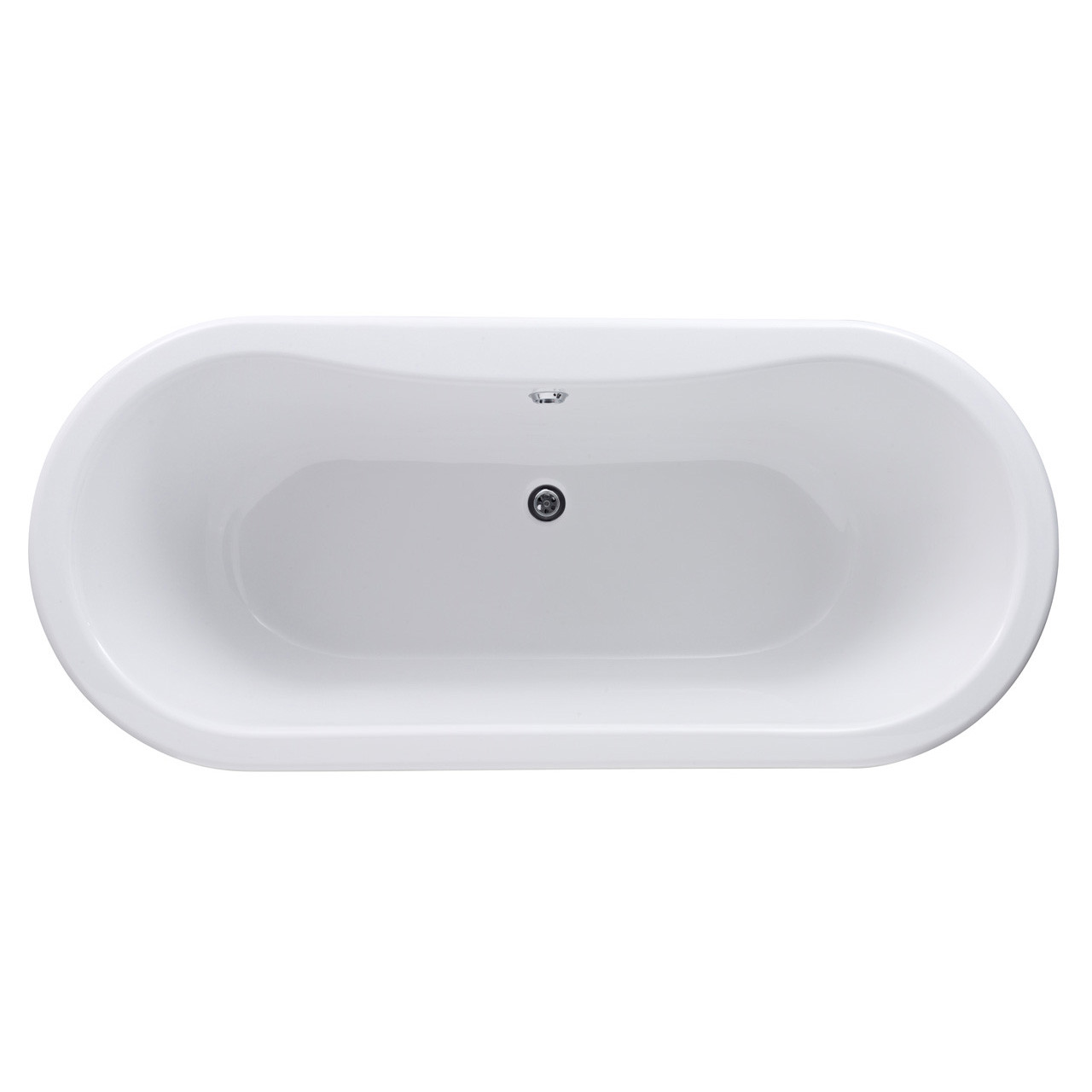 Nuie Kingsbury 1700mm Double Ended Freestanding Bath with Deacon Legs - RL1705M1