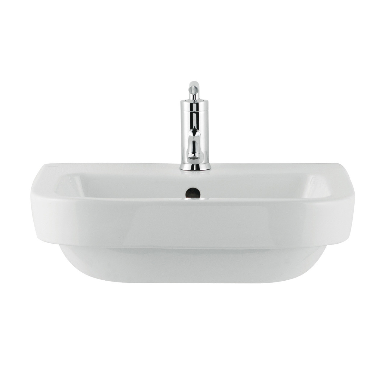 Premier White Jenay 520mm Semi Recessed Basin - LALIWH151