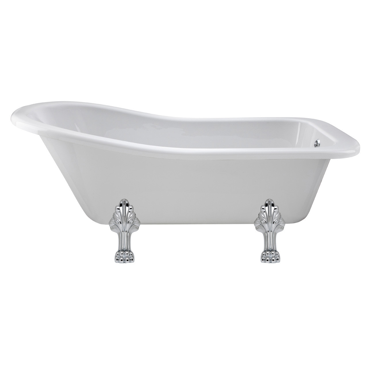 Nuie Brockley 1700mm Single Ended Freestanding Bath with Pride Legs - RL1690C2