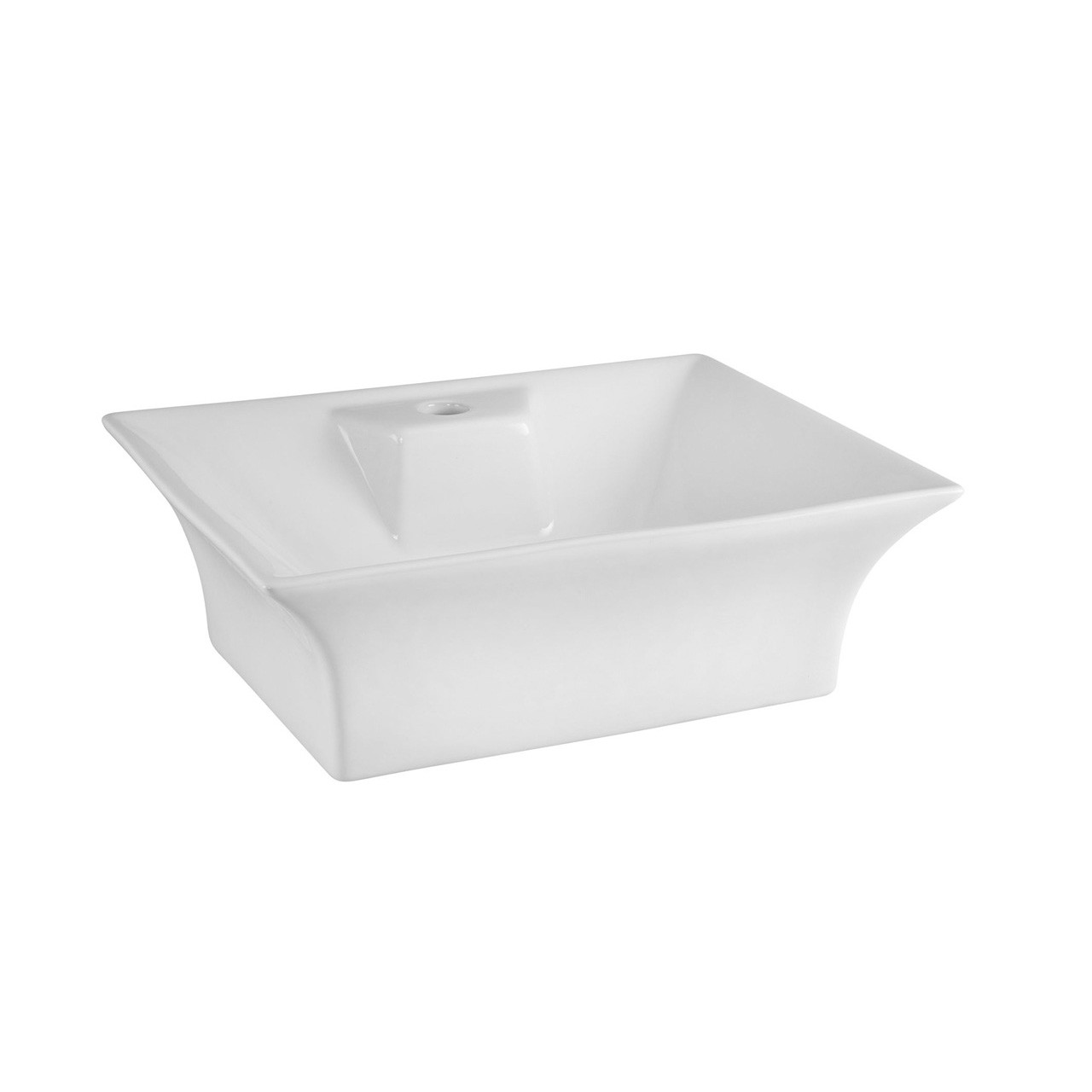 Premier White Rectangular Ceramic Basin - NBV005
