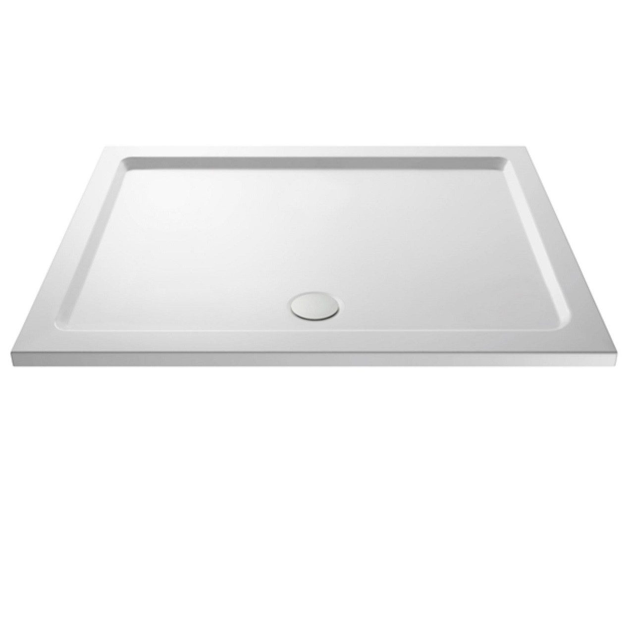 Nuie Pearlstone 1500mm x 760mm Rectangular Shower Tray with Centre Edge Waste - NTP042