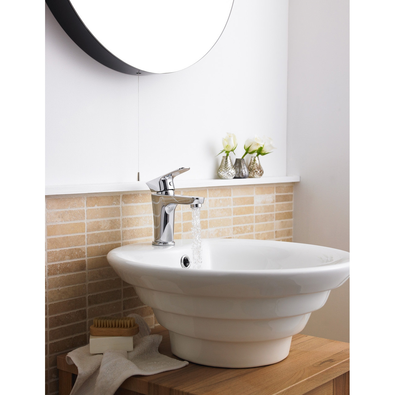 Nuie 460mm Round Counter Top Basin with 1 Tap Hole - NBV006
