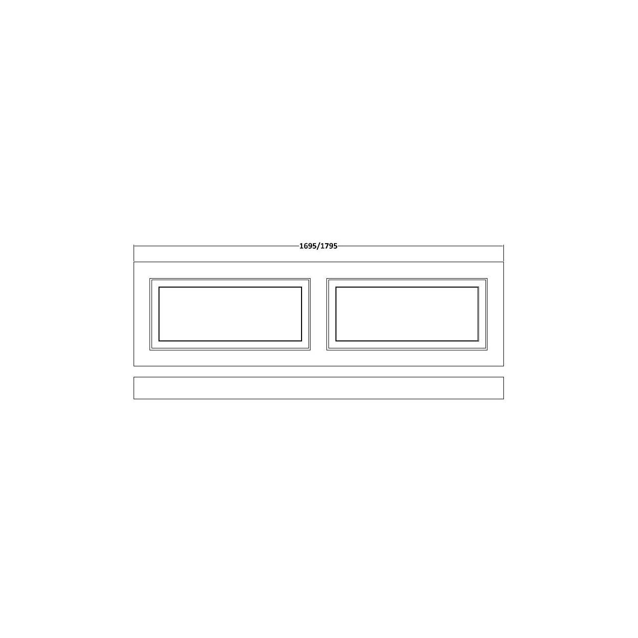 Nuie York White Ash 1700mm Front Bath Panel with Plinth - OLP105