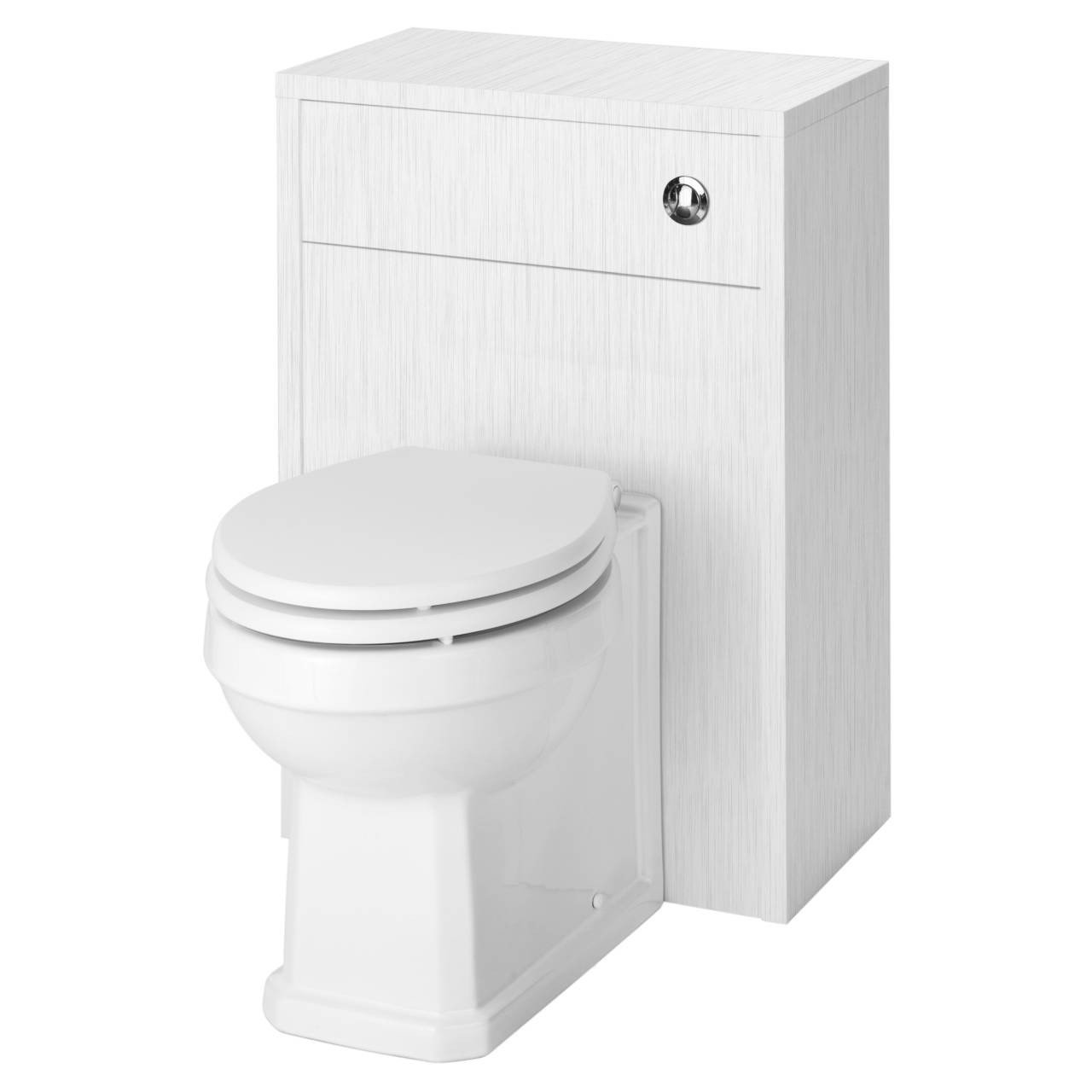 Premier York White Ash 500mm Toilet Unit - OLF141