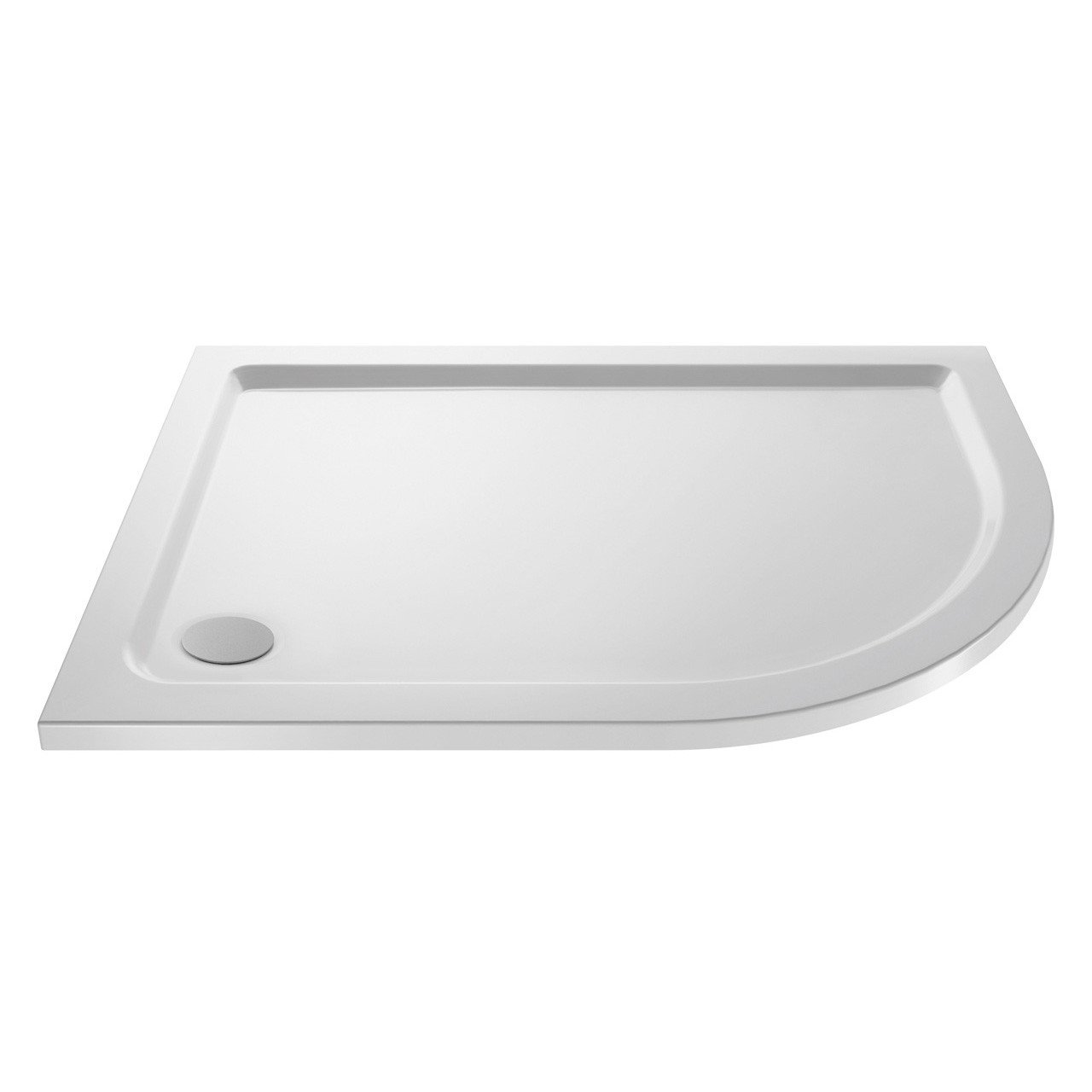 Premiere Pearlstone 1000mm x 800mm x 40mm Right Hand Offset Quadrant Shower Tray - NTP109