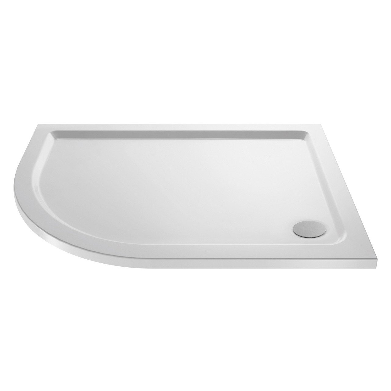 Premiere Pearlstone 1200mm x 800mm x 40mm Left Hand Offset Quadrant Shower Tray - NTP112