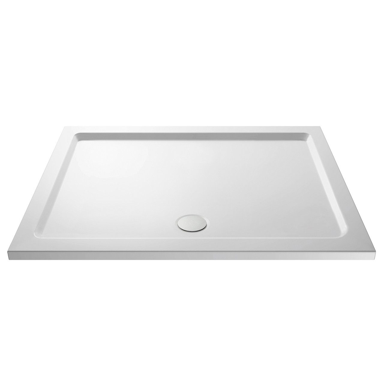 Nuie Pearlstone 1400mm x 800mm Rectangular Shower Tray with Centre Edge Waste - NTP033