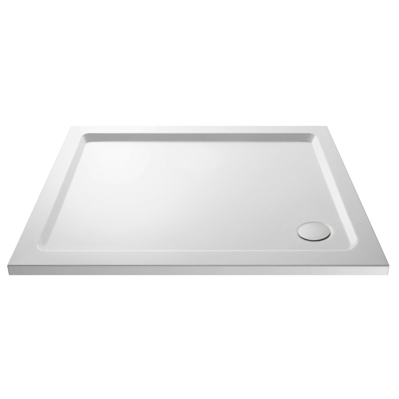 Premiere Pearlstone 900mm x 760mm x 40mm Rectangular Shower Tray with Corner Waste - NTP008