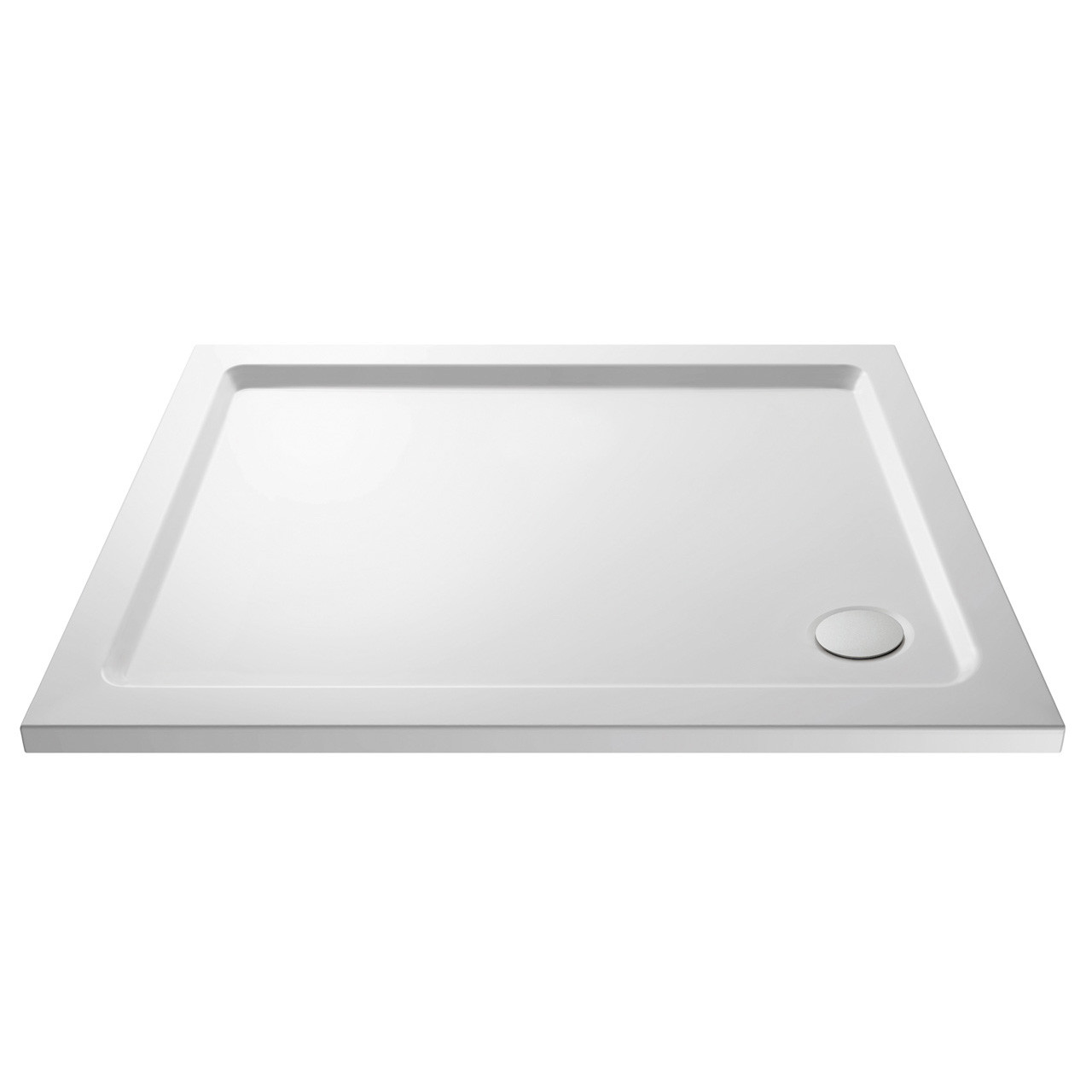 Premiere Pearlstone 900mm x 800mm x 40mm Rectangular Shower Tray with Corner Waste - NTP009