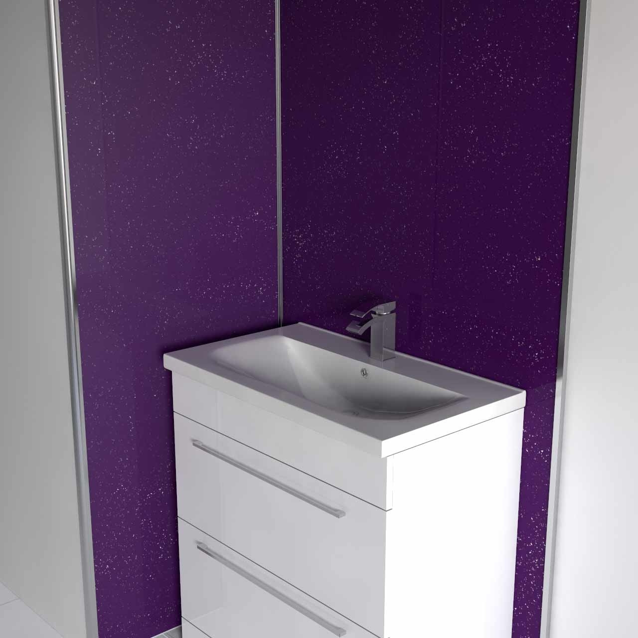 Purple Galaxy Wall Panel 1000x2400x10mm