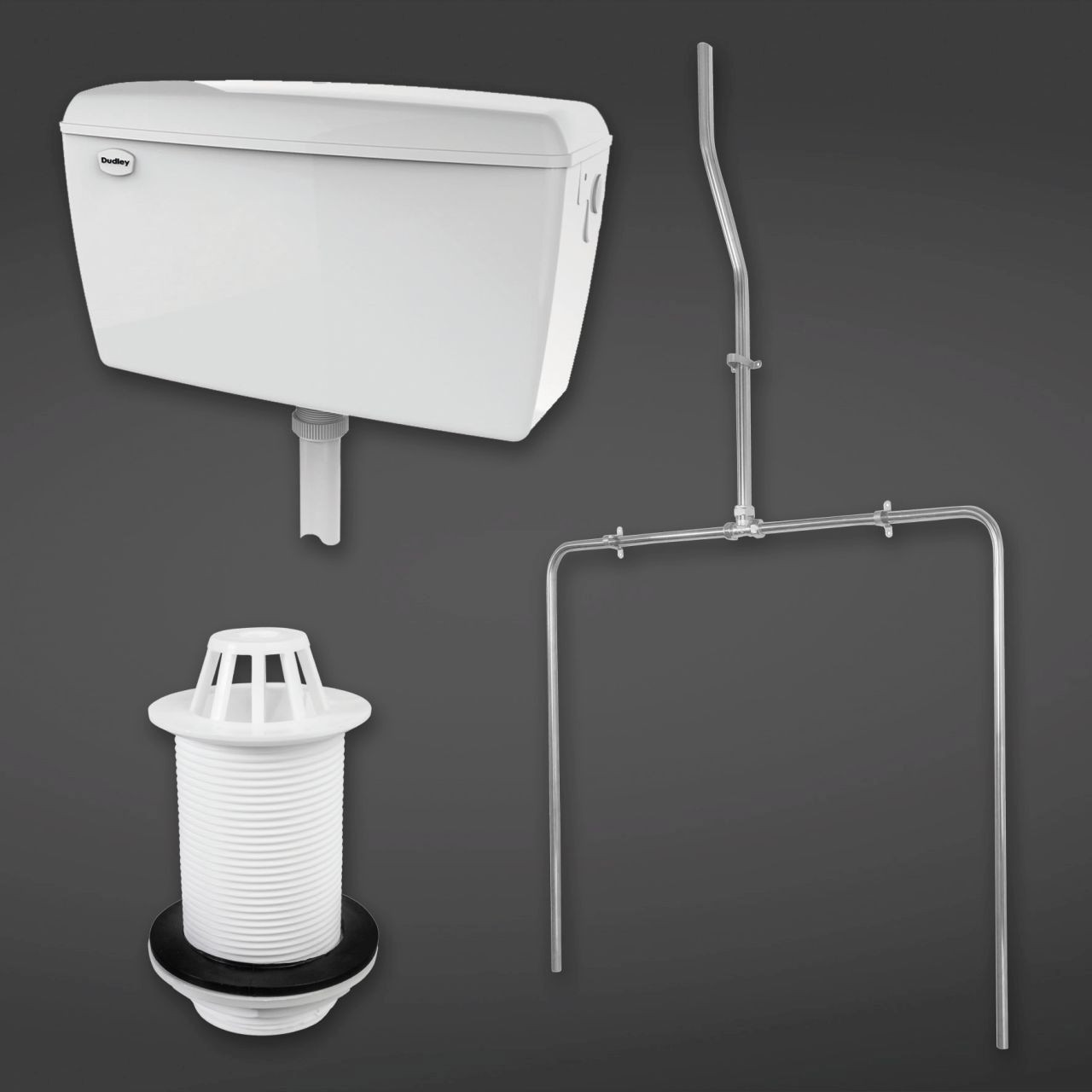 RAK 9 Litre Concealed Automatic Cistern Pack for 2 Urinals including Sparge Pipe Set with Back Spreader and Waste - CONURIPAK2